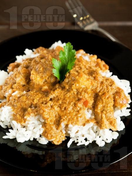 Индийско къри с пиле и гарам масала - снимка на рецептата